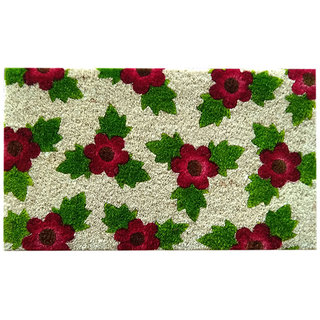 ROYAL DOORMAT Multicolor Nature and Floral Coir Anti-slip Doormat