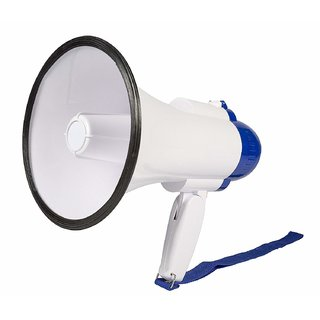 Tech Gear 10W Handheld Loud Megaphone Speaker with Built In Microphone  Siren  Adjustable Volume  Recording Function Mic