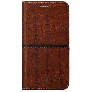 Rich Boss Flip Cover for  Samsung Galaxy J4  ( DARK BROWN )