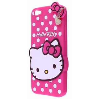 Hello Kitty back Cover For Oppo A3s ( PINK )