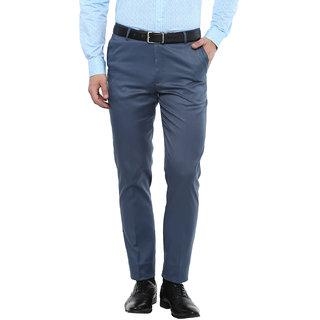 Gwalior Premium Blue Slim Fit Formal Trouser
