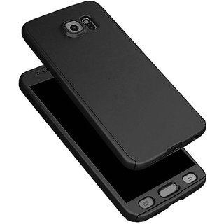 Samsung Galaxy C9 Pro - Front & back cover case with screen Glass for ( BLACK )