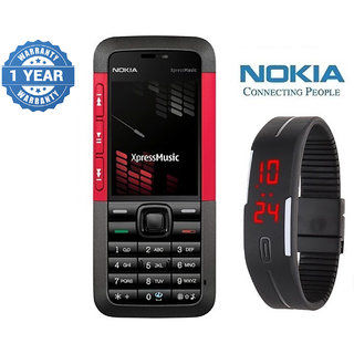 Nokia 5310 / Good Condition / Certified Pre Owned (1 Year Warranty) with Silicon Watch
