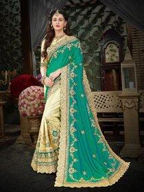 Manohari Designer Green Art Silk Saree