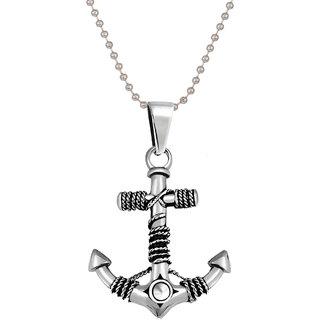 Styles Creation Men's Stylish Designer Anchor Pendant Necklace Chain Jewellery (ARTFLJWL19)