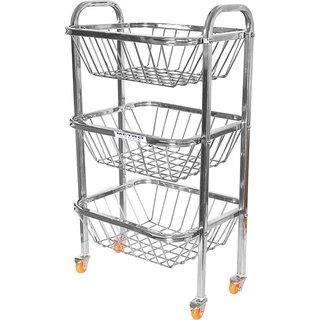 LiMETRO 3 Wheels Stainless Steel Gas Cylinder Trolley (Steel)