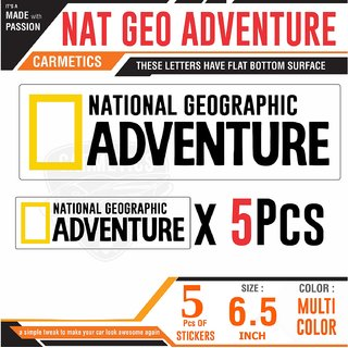 Nat Geo Adventure car stickers car exterior bumper graphics for Maruti Suzuki Omini & Chrome Patrol Diesal stickers 5 Set SMALL