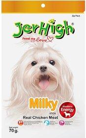 Jerhigh Dog Snacks Milky Stick Chicken Meat 70g Plus Vitamin Calcium (Pack of 3)