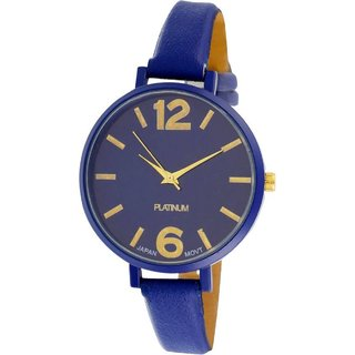 HRV Formal Collection Blue Leather Strap Slim Look Fast Selling Woman Watch