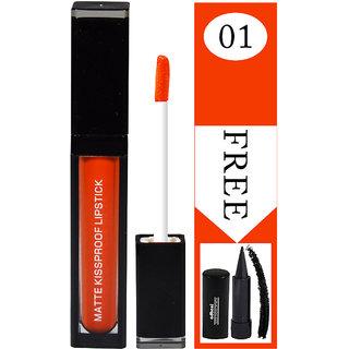 APK Matte Kissproof Lipstick PK36A-01 With Free Adbeni kajal