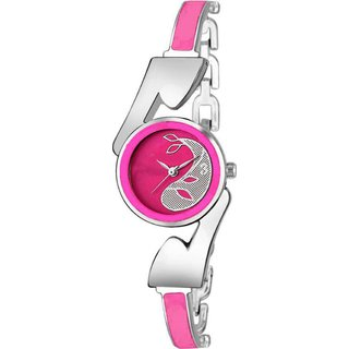 HRV M stylish pink and silver fish design fancy and attractive watch for women Watch