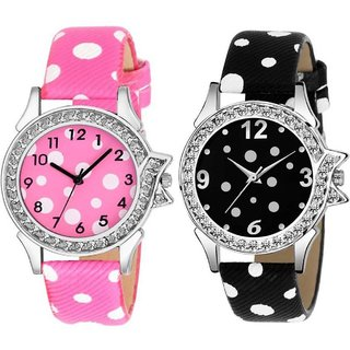 HRV New Fashion Lifestyle Queen Analog Watch Sett Of Two For Girls and Women 139 Watch