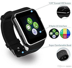 Style Maniac Z-9 Bluetooth Smart Watch Compatible With Android Square Unisex Smart watch With Sim and With Bluetooth