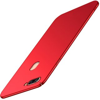 4Cut Matte Finish Rubberised  Hard Back Case Cover For Oppo A5 - Red