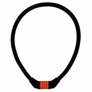 Andride 4 Digits Universal Multi Purpose Steel Cable Orange and black