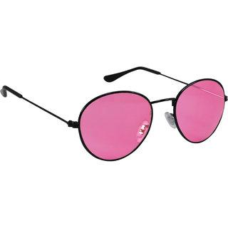 8a2d8b9677 Buy Derry Pink Oval Vintage Sunglasses in Black Frame Online - Get 81% Off