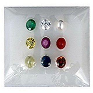Natural Navaratna Stone lab Certified Navgrah Stone (Navgrah Box) Jaipur Gemstone.