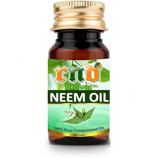 RND Neem Cold Pressed Carrier Oil (35ML) - Pure Natural  Therapeutic Grade Oil For Skin Care  Hair Care Hair Oil  (35