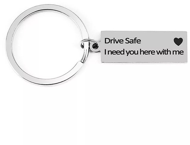 Drive Safe Keychain for Husband Key Chains i Need You here Message Engraved  Girlfriend Wife Gifts Handsome Love with me