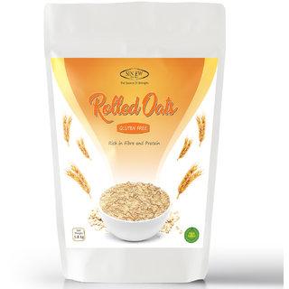 Sinew Nutrition Gluten Free Rolled Oats, Rich in Fiber  Protein - (1800gm)