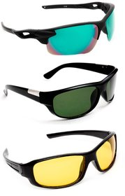 TheWhoop Combo UV Protected Sports Goggles  Day and Night HD Vision Anti-Glare Sunglasses For Men Women Boys Girls