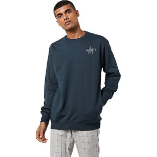 aarmy fit mens round  neck grey sweatshirt