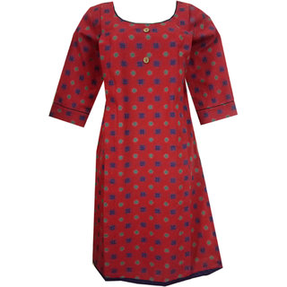 K T COLLECTION COTTON MATERNITY FEEDING KURTI WITH VERTICAL ZIPPERS KTMTRN61