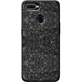 on sale a7fe3 c8737 Cellmate Stylish Texture Pattern Soft Fabric TPU Fashionable Designer  Mobile Back Case Cover For Oppo Realme U1 - Black