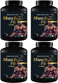 Muscle Fit Herbal Powder For Weight And Muscle Gain Chocolate Flavour (500Gm Powder Each) Pack Of 4
