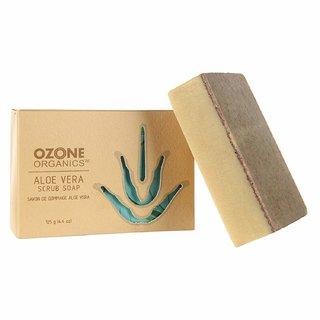 Ozone Organics Aloe Vera Scrub Soap, 125g