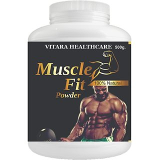 Muscle Fit Herbal Powder For Weight And Muscle Gain Chocolate Flavour (500Gm Powder) Pack Of 1