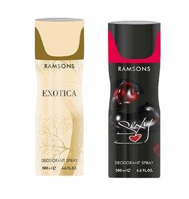 RAMSONS Exotica  Sexy Deodorant Spray,200 ml each ,pack of2