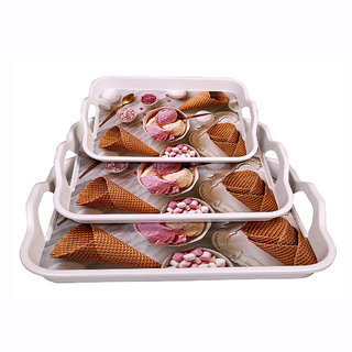 Dine Master Stylo Serving Trays 3 pcs Printed (Large Medium Small)