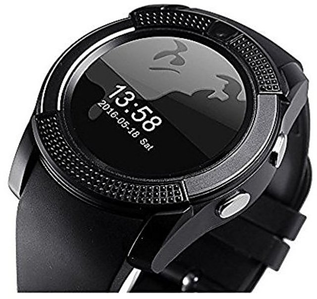 6a2c7608c Buy MAKIBES V8 Smartwatch Bluetooth, Camera, Sim Tf Card Supports Apps like  Facebook, Whatsapp, etc., Touch Screen, etc. Online - Get 41% Off