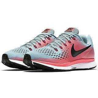 Nike Air Zoom Pegasus 34 Mica Blue & Red Running Shoes