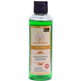 Khadi herbs Aloevera face wash