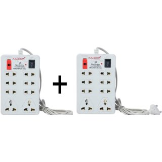 Kaltron Mini 8 Plug Extension Strip-Set of 2 (Cord Length 2.5 Mtr.)
