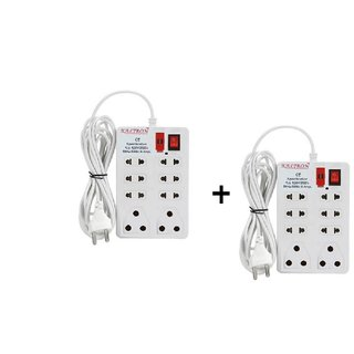 Kaltron Mini 8 Plug Extension Strip-Set of 2 (Cord Length 2.5 Mtr.)
