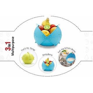 diya rice stainer and fruit basket cum washing bowl 3 in 1