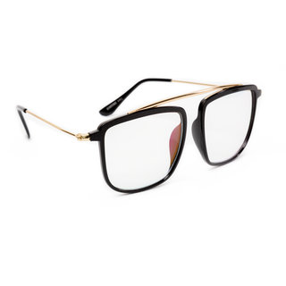 6d66f4457d Buy THEWHOOP Stylish Metal Full Rim Black Golden Rectangular Wayfarer Spectacle  Frame For Men