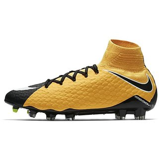 Nike Hypervenom Phatal III DD FG Yellow Football Shoes