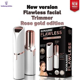 Wellbeing Within New Version Rose Gold Edition Flawless Women Facial Hair Trimmer