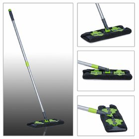 Smile Mom Professional Flat Mop 360 Degree for Home and Office Cleaning with Reusable Washable Microfiber Mop Cloth Pad