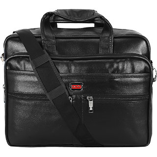 BumBart Collection mens leather messenger bags ( Black Color)