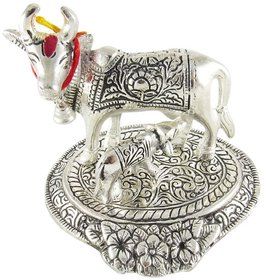 Gifts  Decor kaamdhenu cow and calf Decorative Showpiece (12x10.5x9 Cm)