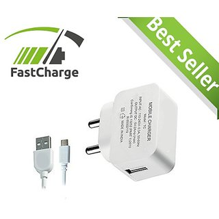 2Amp Fast Charger Adapter with 1 M High Speed Micro USB Cable for Samsung Galaxy On5 Pro/Samsung Galaxy On Nxt