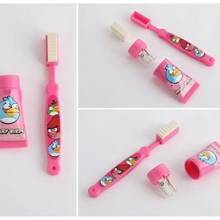 Toothbrush Styled eraser Toothpaste Styled Sharpener Non-Toxic Eraser  (Set of 2 eraser 2 sharpener)