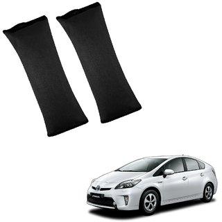 Auto Addict Car Seat Belt Cushion Pillow ( Black) -2 Pieces For Toyota Prius