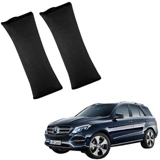 Auto Addict Car Seat Belt Cushion Pillow ( Black) -2 Pieces For Mercedes Benz NA