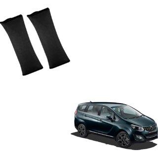 Auto Addict Car Seat Belt Cushion Pillow ( Black) -2 PiecesFor Mahindra Marazzo